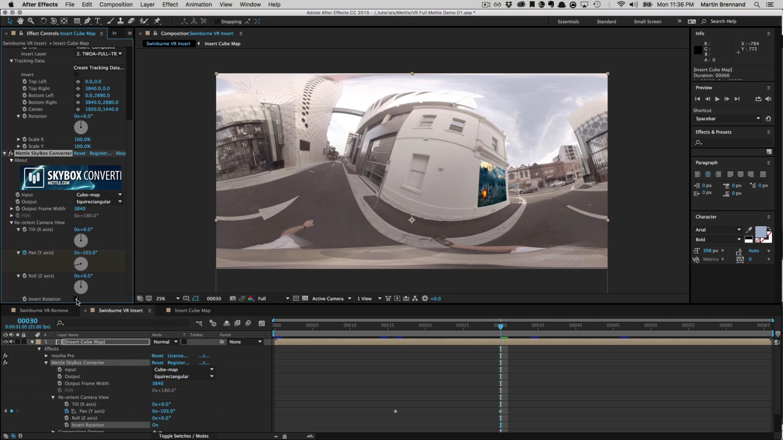 mocha pro 5 and SkyBox Studio