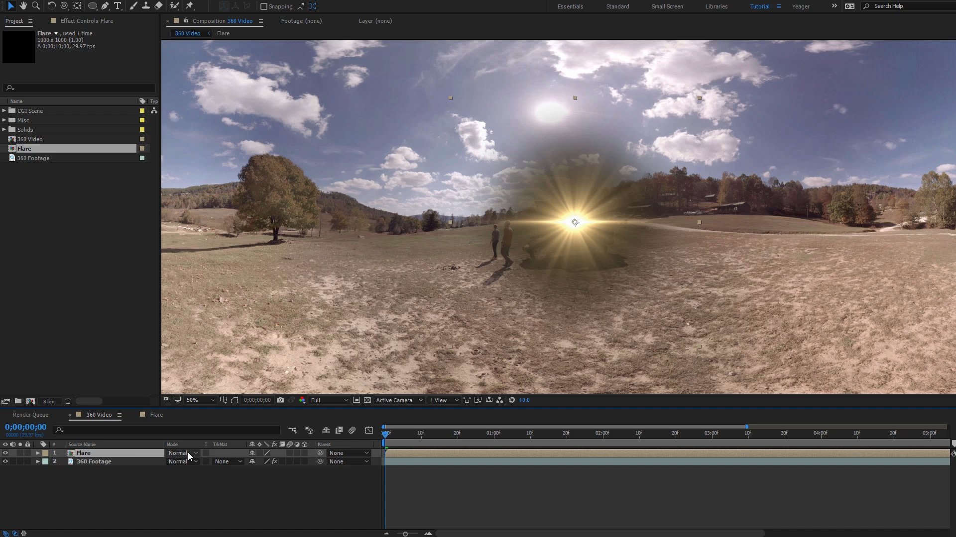 how to add lens flare