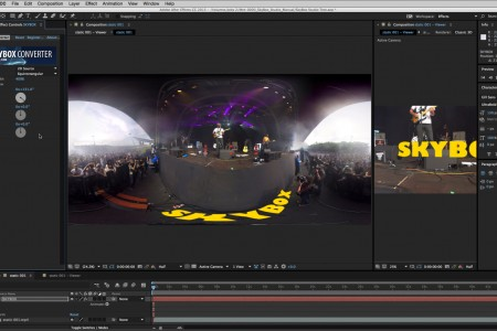 How to Add 2D Text onto 360 Footage | SkyBox Studio