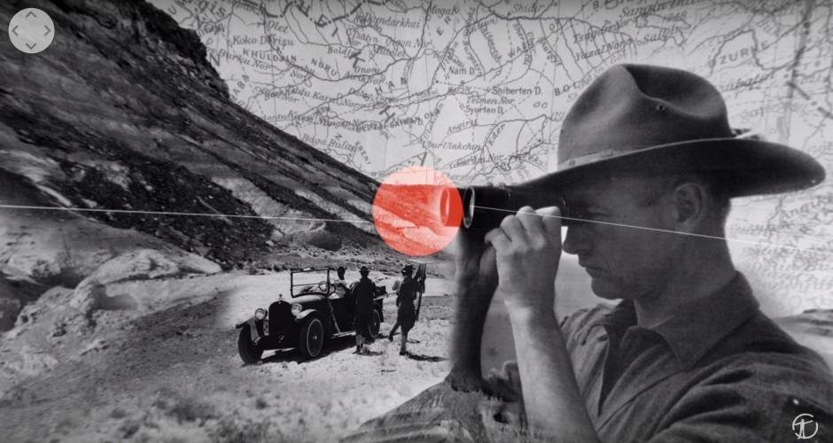 360 view fossil hunting in the Gobi Desert
