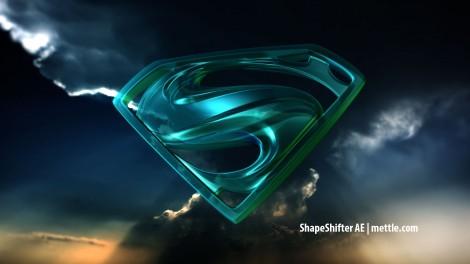 Blue Glass Superman