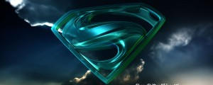Blue Glass Superman