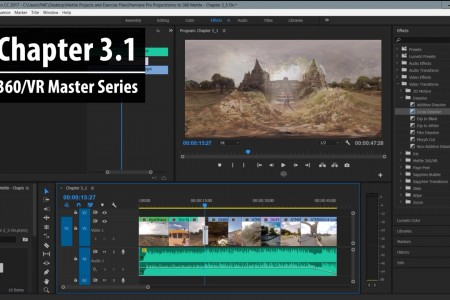 Chapter 3.1: Adding Transitions, Post FX and Graphics   360/VR Master Series