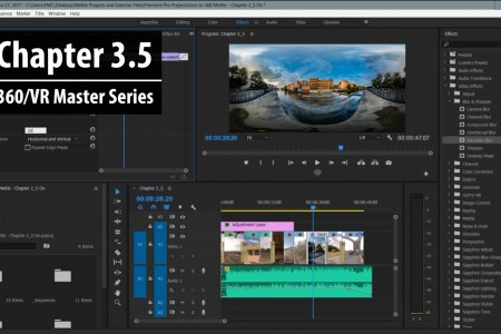 Chapter 3.5: 2D vs. 360 Post FX in Premiere Pro   360/VR Master Series