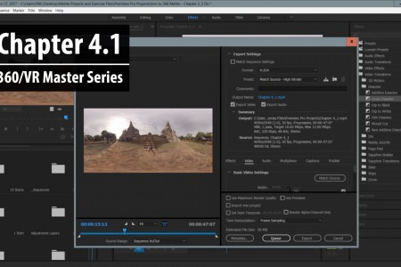 Chapter 4.1: Exporting a 360 Sequence to Adobe Media Encoder   360/VR Master Series