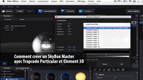 Comment créer un SkyBox Master avec Trapcode Particular et Element 3D