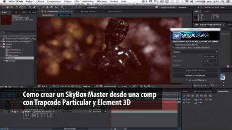 Como crear un SkyBox Master desde una composition con Trapcode Particular y Element 3D