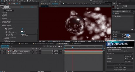 Create a New SkyBox Master with Trapcode Particular + Element 3D