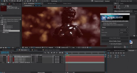 Generate a SkyBox From an Existing Composition with Trapcode Particular and Element 3D