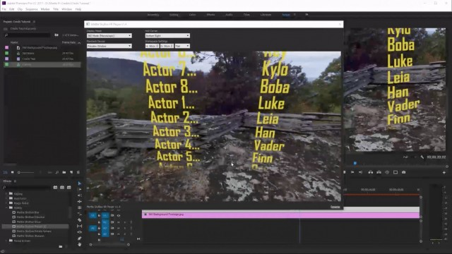 How to Add Closing Credits to a 360° Movie | Premiere Pro | SkyBox 360/VR Tools