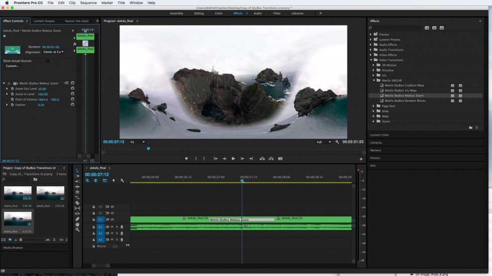gopro studio how to make transition between 2 clip