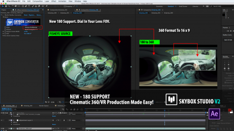 SkyBox Studio Version 2   180° / Fisheye Support