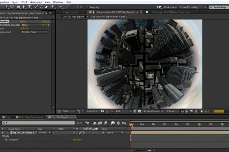 How to Create a Tiny Planet in After Effects | SkyBox Studio + Element 3D