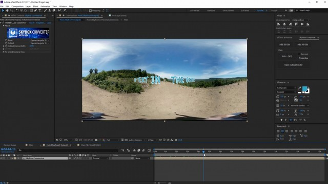 How to Track a 360° Scene in After Effects   SkyBox Studio V2