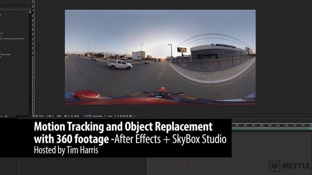 Motion Tracking and Object Replacement with 360 Footage   After Effects   SkyBox Studio
