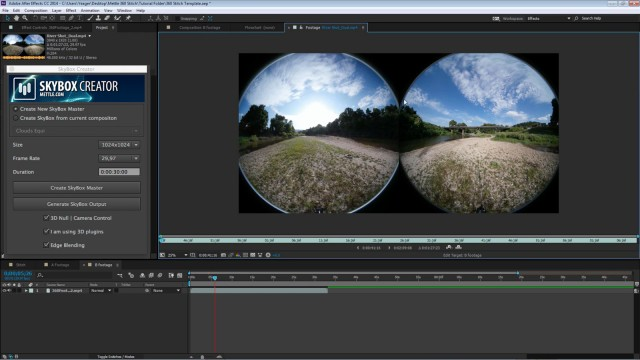 How to Stitch Samsung Gear VR 360° Footage in After Effects | Free Project File