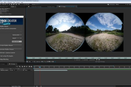 How to Stitch Samsung Gear VR 360° Footage in After Effects   Free Project File