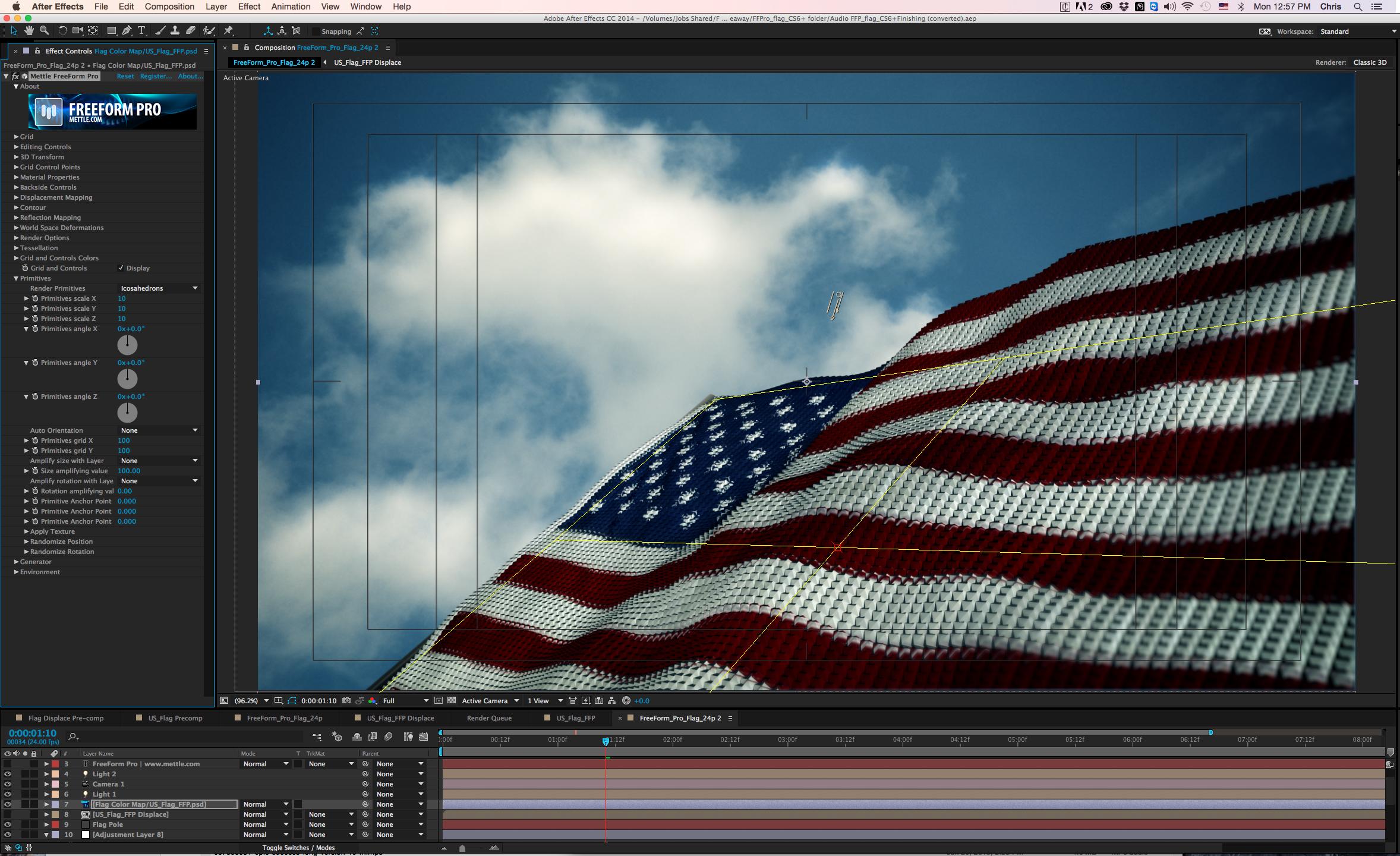 American Flag Icosahedrons