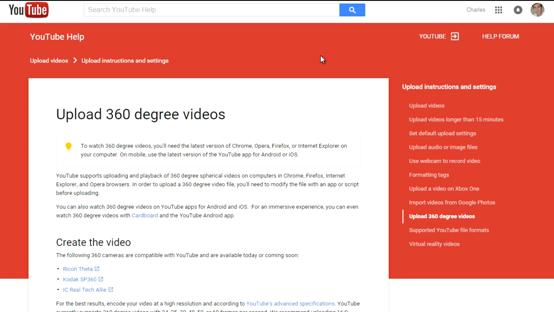how to search youtube for vr videos