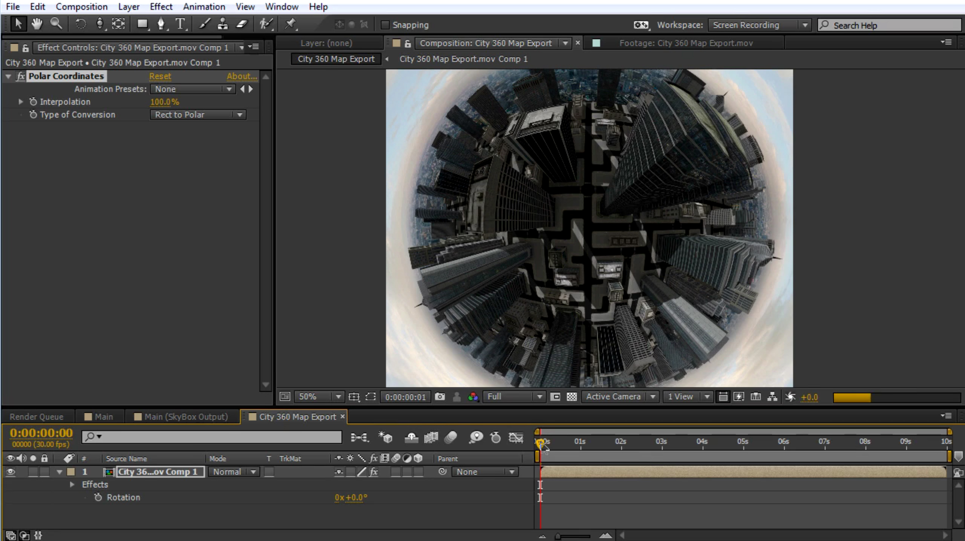 mettle skybox studio tiny planet Polar coordinates