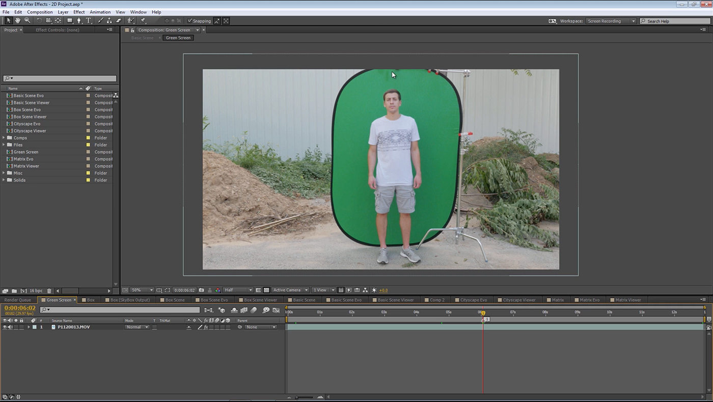 Charles Shoots Himself Against A Portable Greenscreen, Using A Panasonic  Gh4