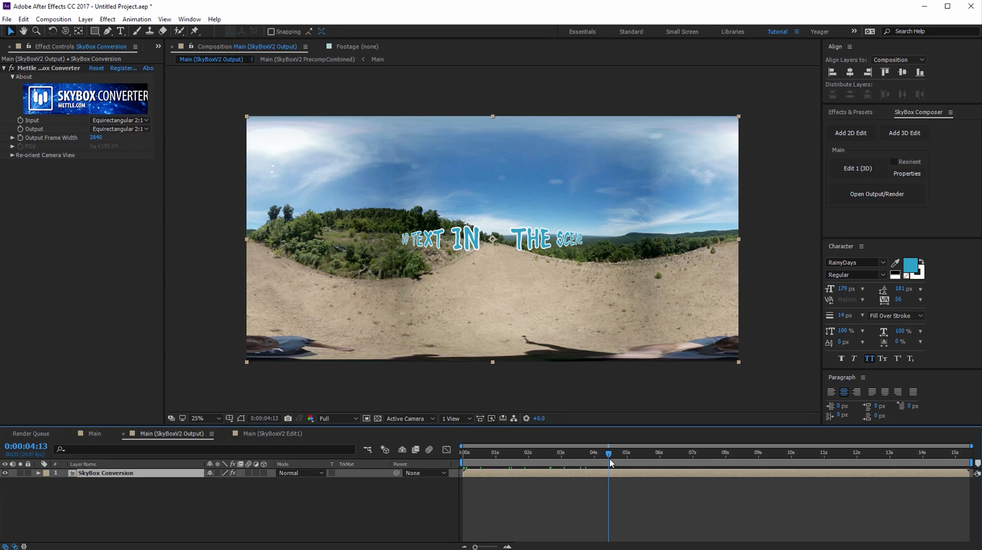 11 -Tracking with SkyBox Studio V2