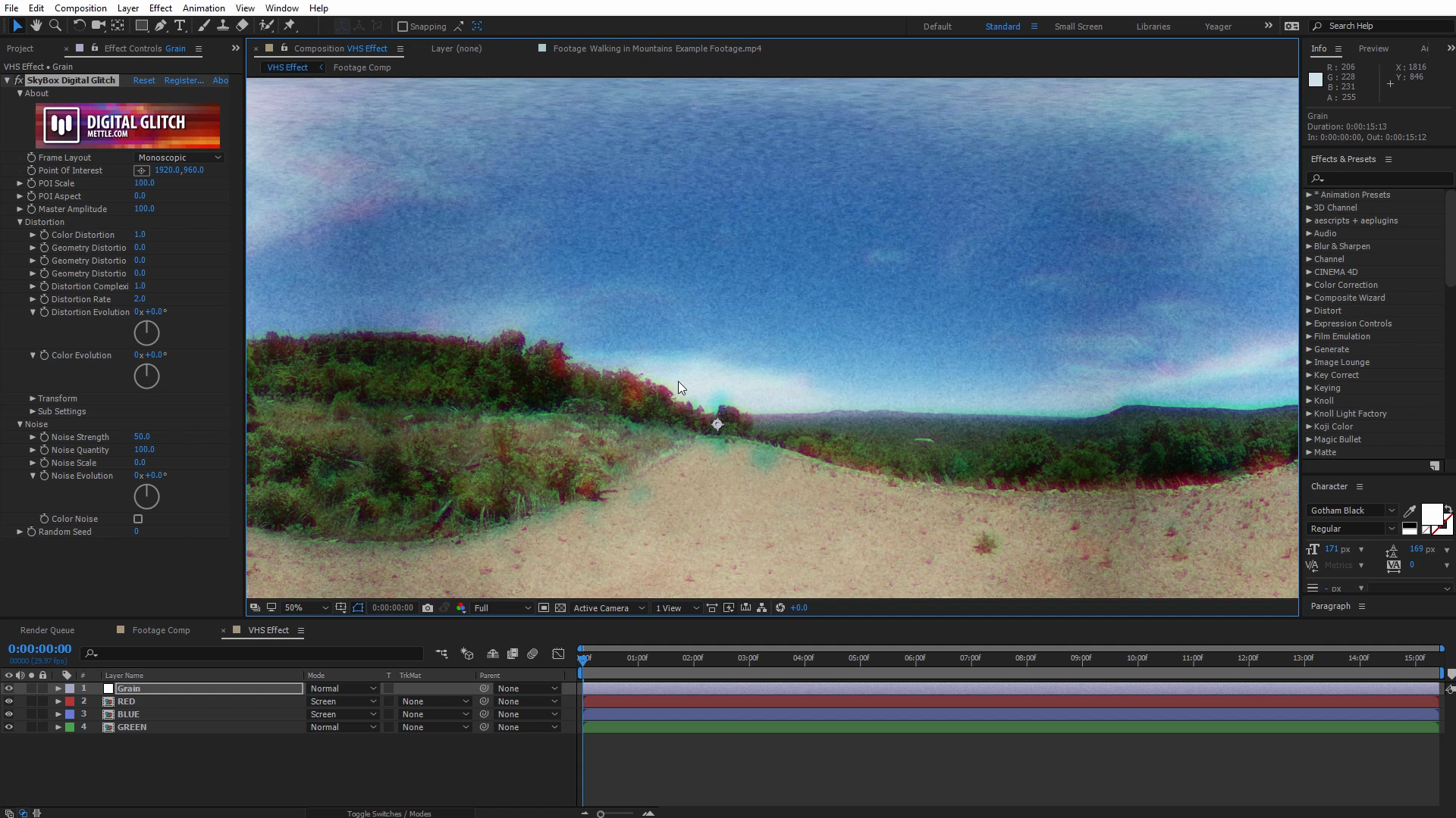 How to Create a Retro VHS Effect with 360 Footage in After Effects