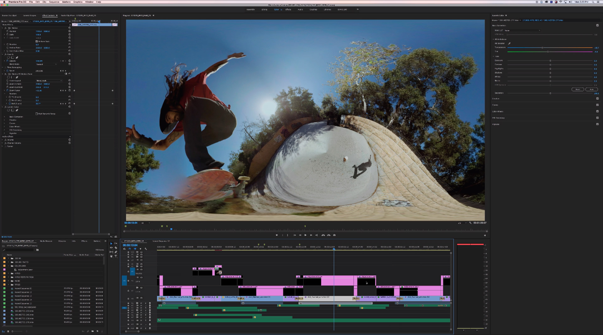 Premiere Pro and Mantra VR for stylization