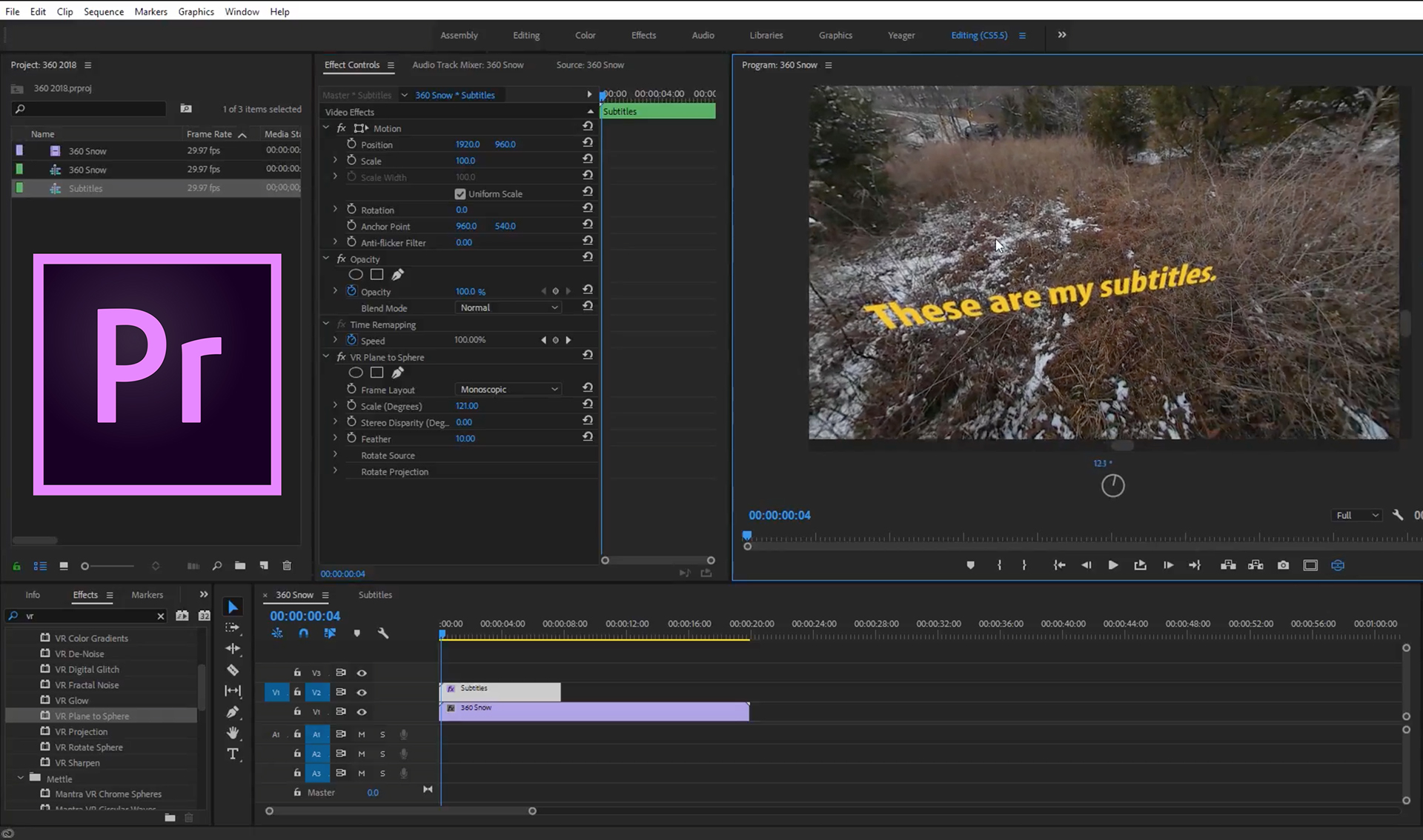 Subtitles Premiere Pro Charles Yeager featured image