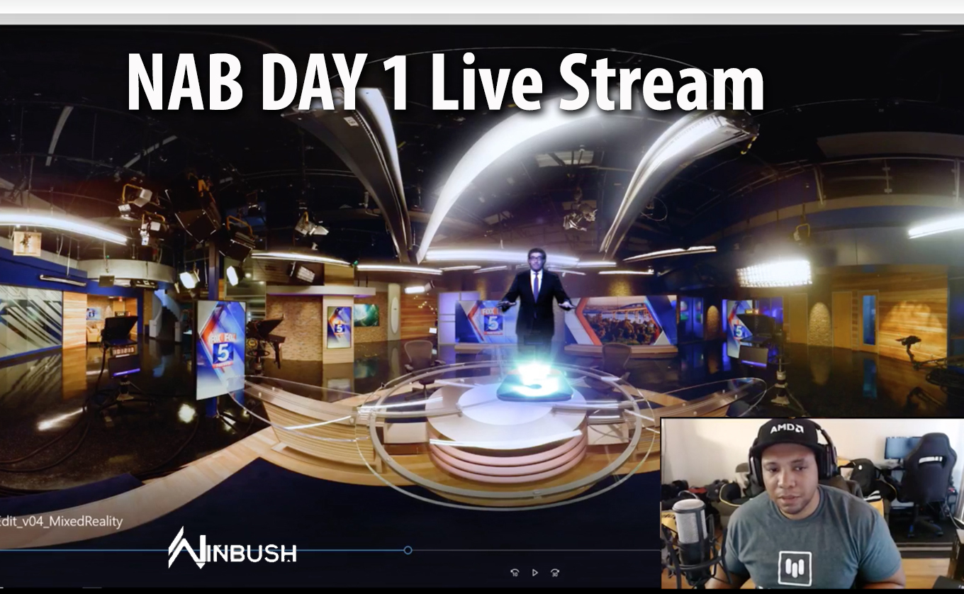 NAB Day 1 Live Stream Host Jonathan Winbush