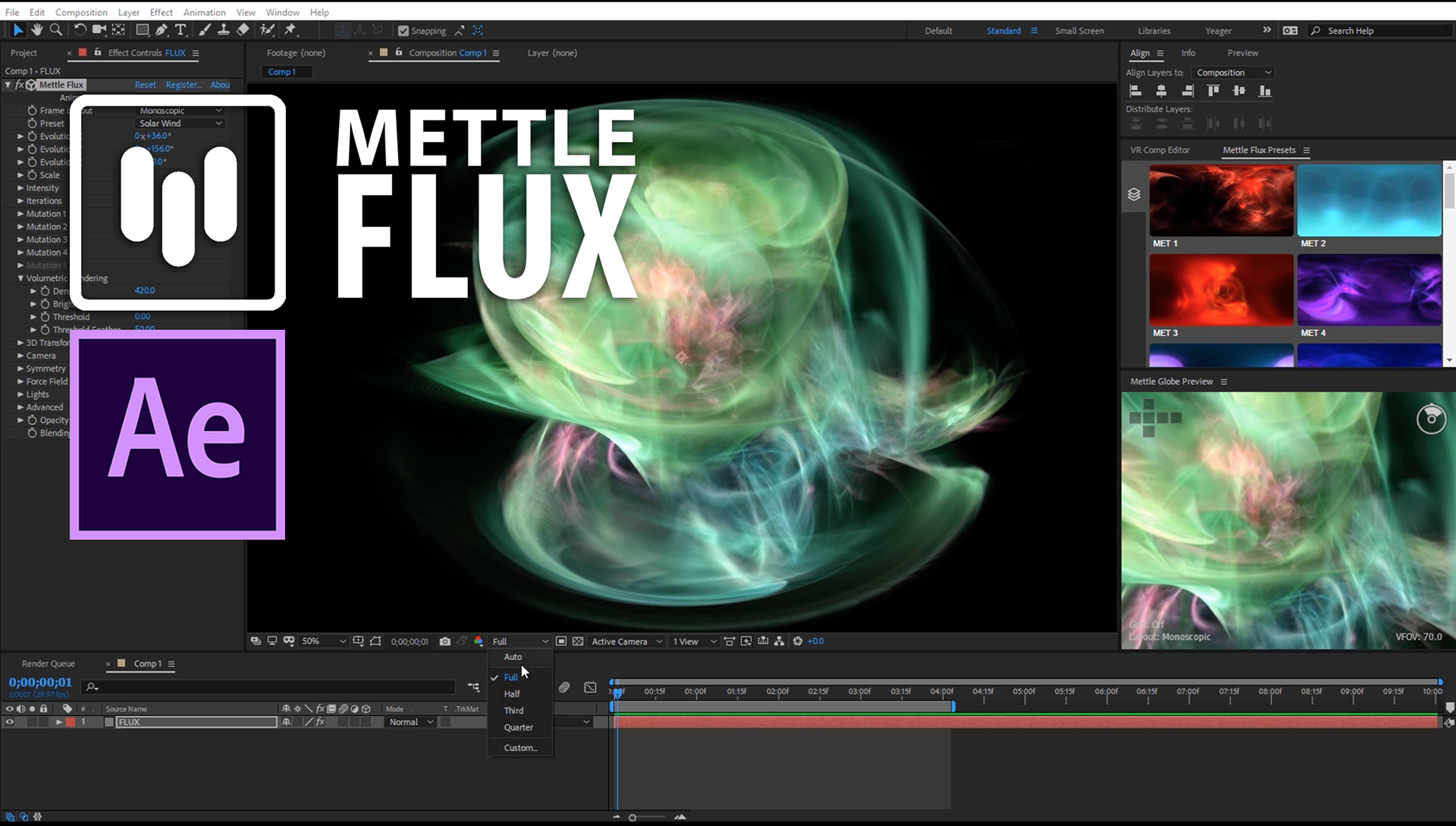 Mettle FLUX Getting Started in After Effects