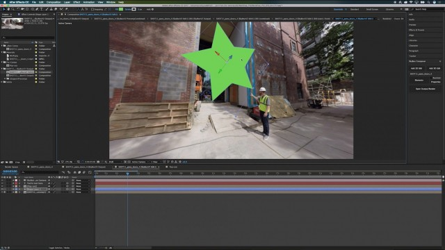 How to Add Motion Graphics Onto 360 footage With SkyBox Composer | Joshua Kimmis