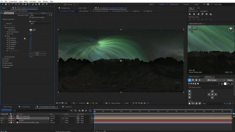 360° Night Landscape and Sky