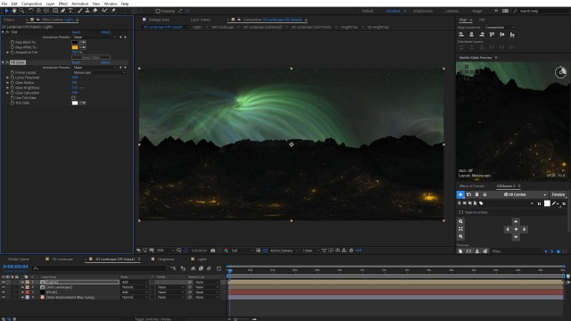 Tutorial: 360° Nighttime Scene with FLUX + FreeForm Pro + GEOlayers 2 in After Effects