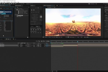 Stabilize 360 Footage and Add VFX in After Effects | SkyBox Studio