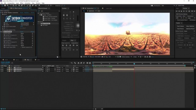 Stabilize 360 Footage and Add VFX in After Effects | SkyBox