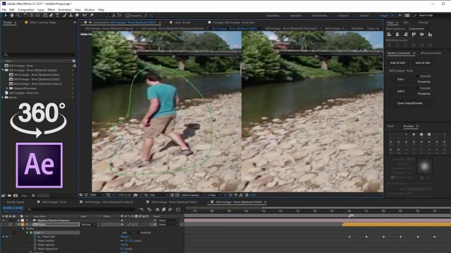 Part 2: Advanced Object Removal from 360 Footage   After Effects   Skybox Studio V2
