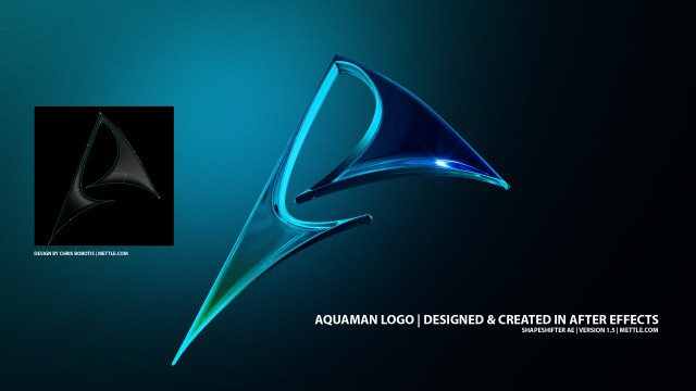 3D AquaMan Logo In After Effects | ShapeShifter