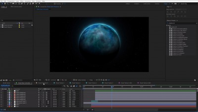 Free Project File | Planet Textures | After Effects | Mantra