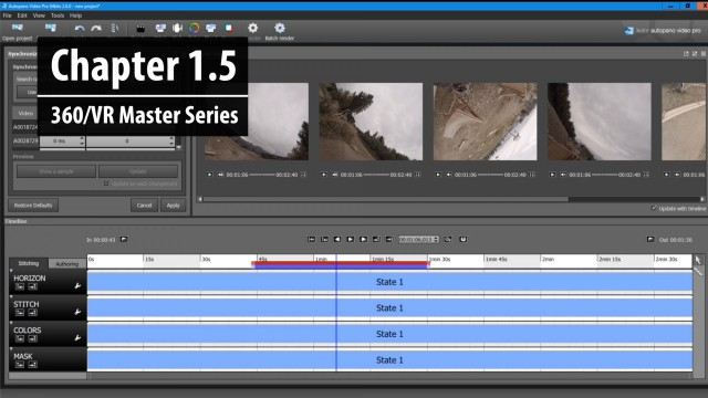 """Chapter 1.5: The importance and meaning of """"Stitching""""   360/VR Master Series"""