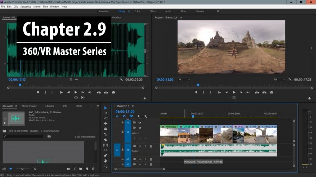 Chapter 2.9: Adding Audio to 360 Video | 360/VR Master Series