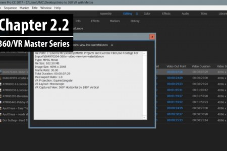 Chapter 2.2: Viewing and Modifying 360 Metadata | 360/VR Master Series