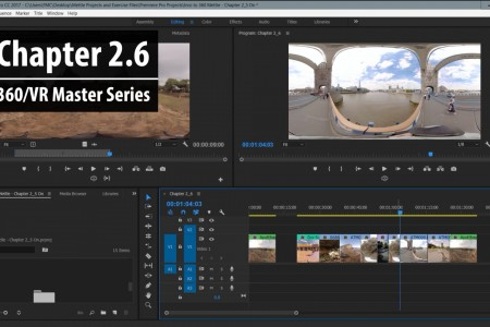Chapter 2.6: Copying, Cutting and Pasting 360 clips in the timeline | 360/VR Master Series