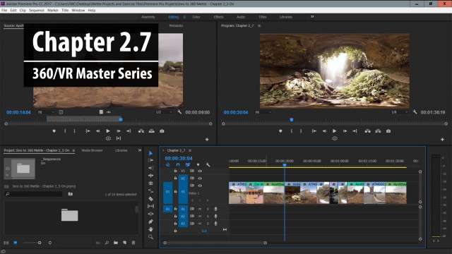 Chapter 2.7: Trimming Basics in Premiere Pro – Part 1 | 360/VR Master Series