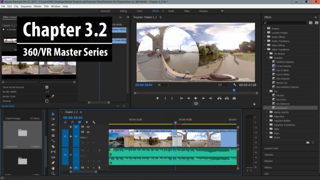 Chapter 3.2: 2D vs. 360 Transitions in Premiere Pro   360/VR Master Series