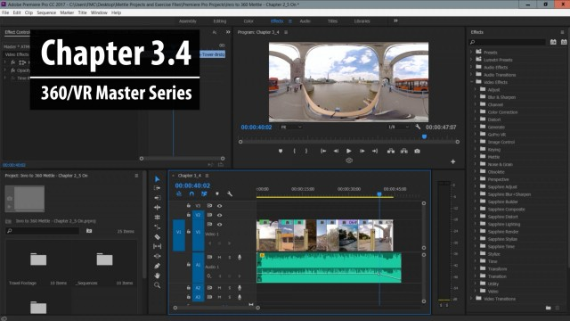 Chapter 3.4: How Post FX Work in Premiere Pro | 360/VR Master Series