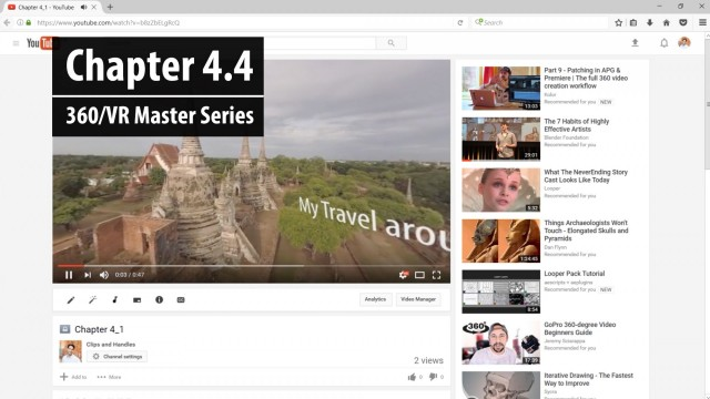 Chapter 4.4: Viewing the Final Uploaded 360 video   360/VR Master Series