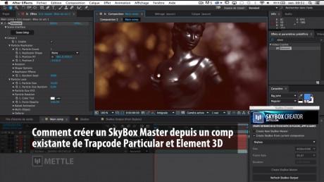 Comment créer un SkyBox Master depuis une comp existante avec Trapcode Particular et Element 3D