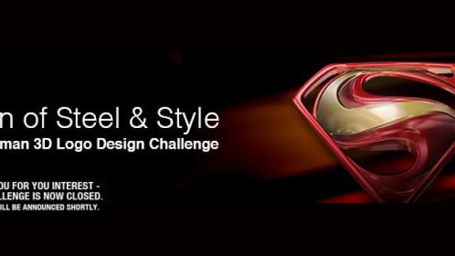 Man of Steel & Style – Superman 3D Logo Design Challenge