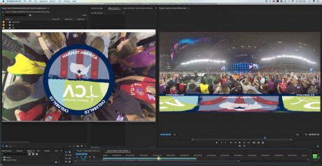 How to Cover the Nadir with a Logo in Premiere Pro